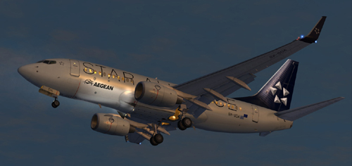 FSX Aegean Star Alliance B700