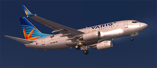 FS9 Varig B700 