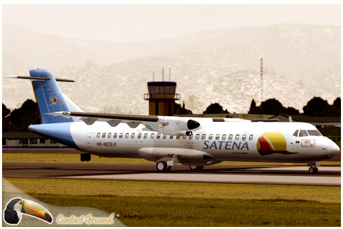 Satena Colombia Flight1 ATR 72-500