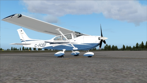 FSX  Cessna 182T Skylane, Canadian reg. C-FCEF