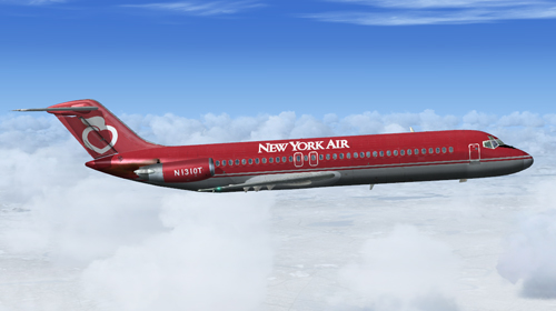 Coolsky DC-9 in New York Air colors