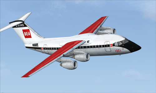 FSX QW RJ70 BEA Red Square livery Fictional