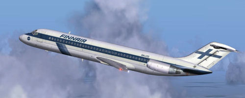 Coolsky DC-9 Classic in Finnair OOH-LYZ livery