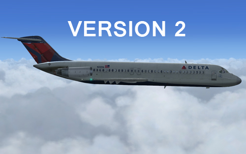 Version 2 of the Delta 2007 repaint for the Coolsky DC-9