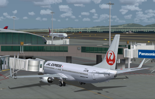 FSX 737-800 JAL Express Japan Airlines JA348J