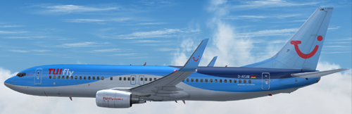 FS9 TUIfly B737-800 in the new blue livery
