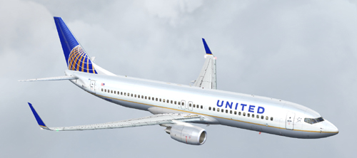 FS9 all new United B737-800