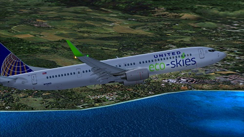 FS9 United ECO-SKIES B900 paint