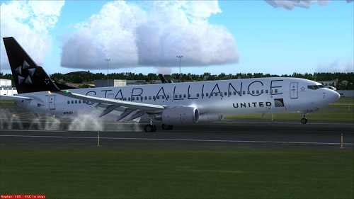 FS9 United 737-900ER Star Alliance fictional