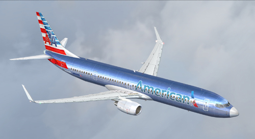 FS9 B737-900ER American Airlines cross livery
