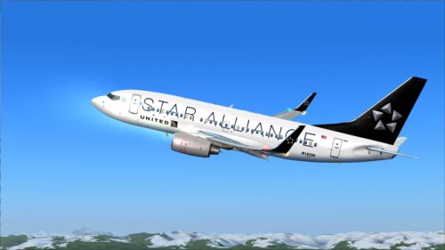 FS9 B737-700 United Air lines Star Alliance