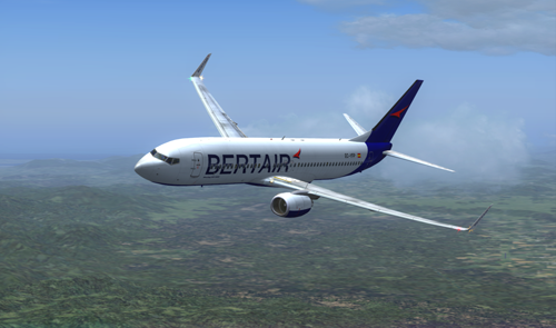 FS9 Bertair livery Boeing 737-800 NG Winglets