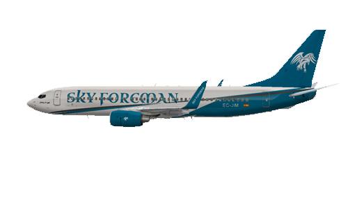 FS9 Boeing 737-800W Sky Foreman New Livery