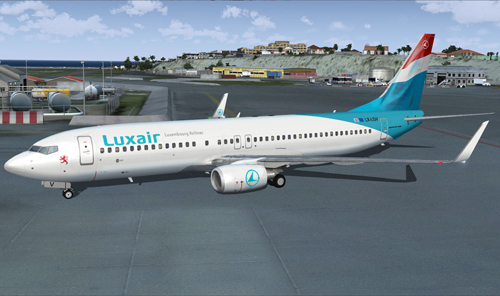 FS9 iFly 737-800 Luxair LX-LGV