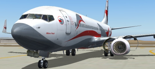 FS9 iFly 737-800 Red T Airline