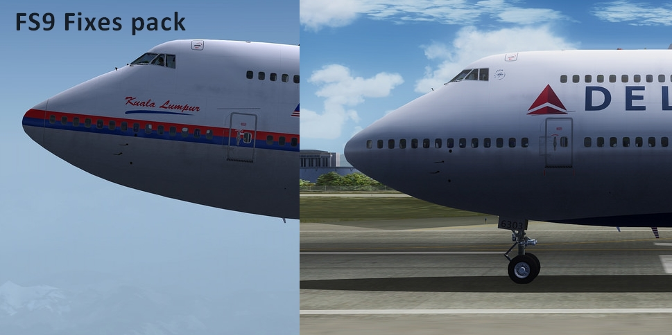 FS9 iFly 747-400 Repaints Fixes (Delta / Malaysia)