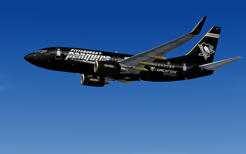 FS9 iFly 737-700 NHL Pittsburgh Penguins
