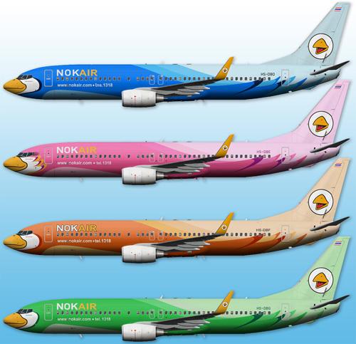 FS9 iFly 737-800 Nok Air HS-DB Series