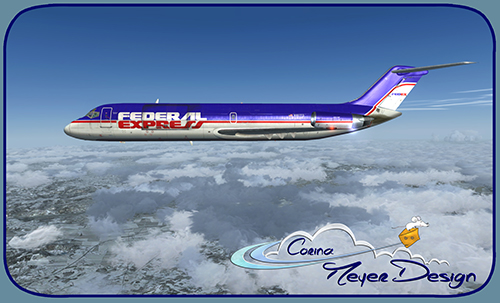 FSX Coolsky DC-9-32CF FedEx Old Color N957FD