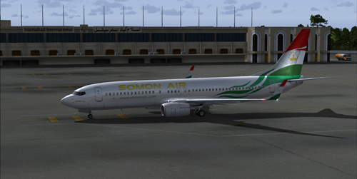 FS9 iFly 737 Somon Air EY-777